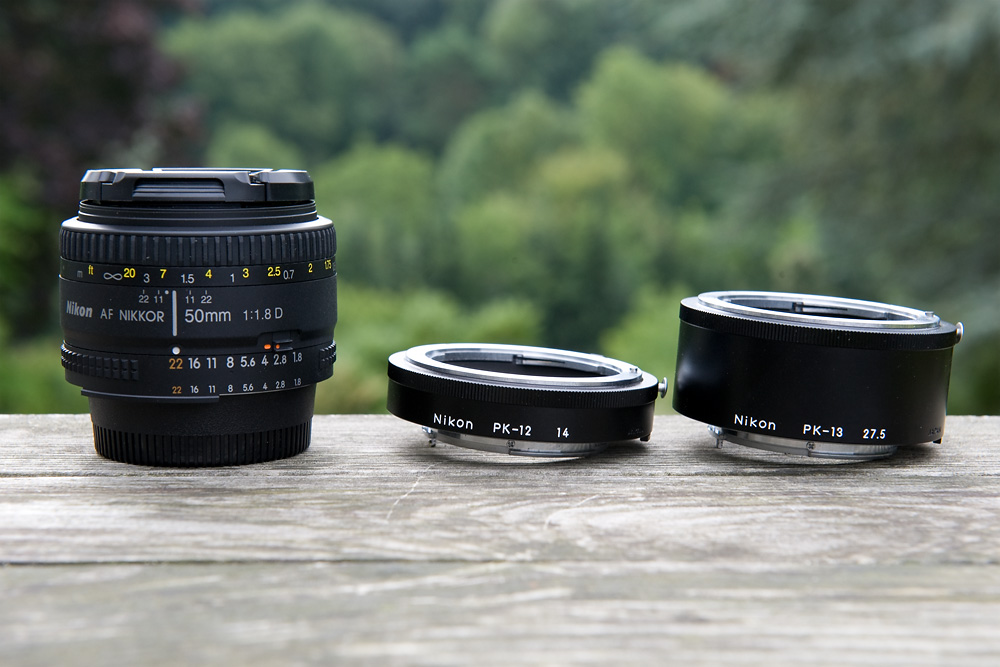 Nikkor 1,8 50 mm, Nikon Zwischenringe PK-12 und PK-13
