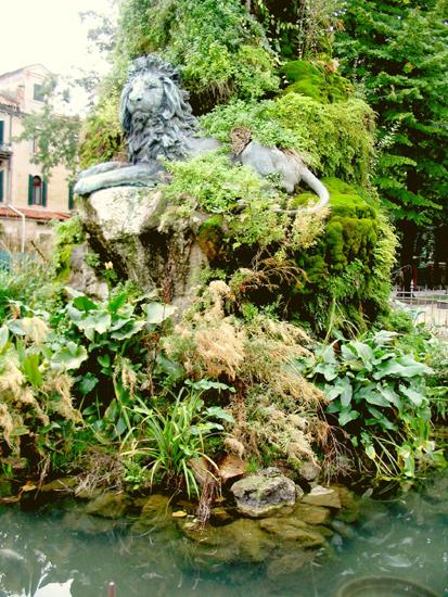 Venedig - Garibaldi-Brunnen