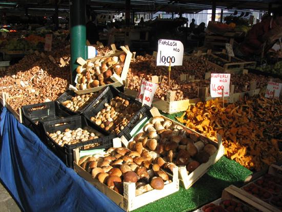 Porcini auf dem Markt