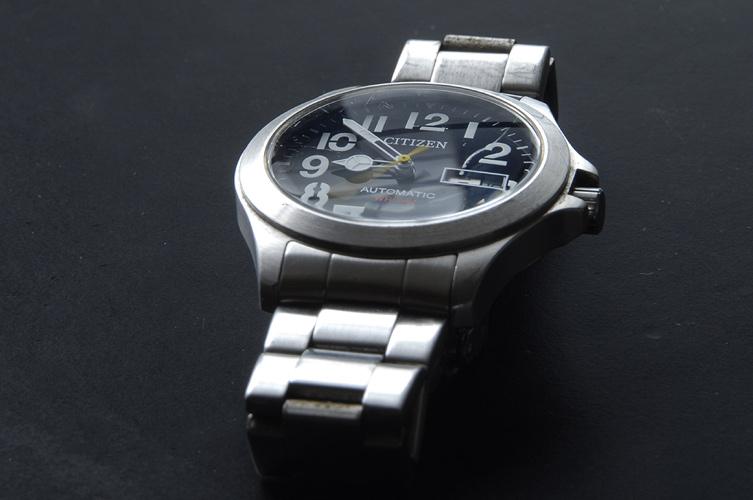Foto mit Polfilter: Uhr mit reduzierter Spiegelung