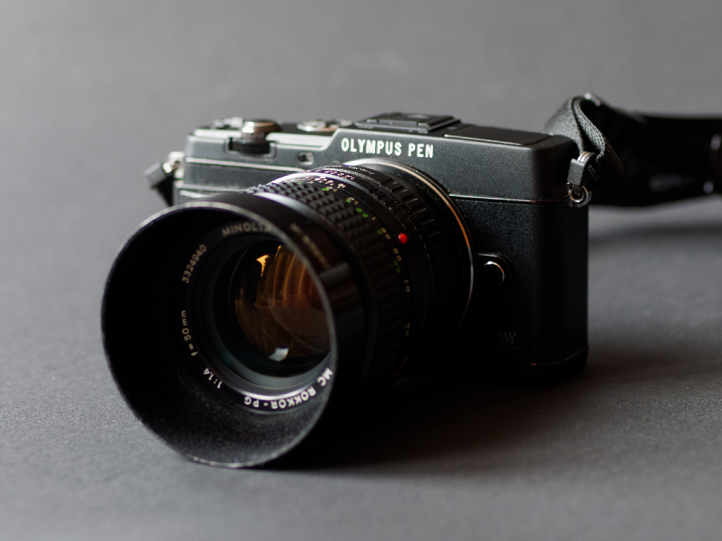 Rokkor 1,4 50 mm an Olympus PEN
